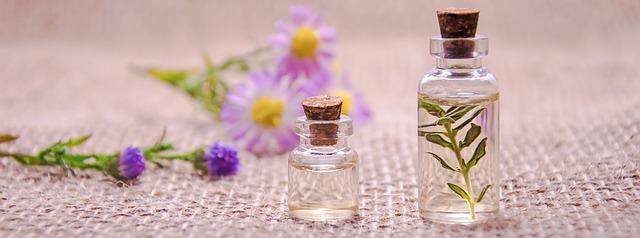 olej a květina