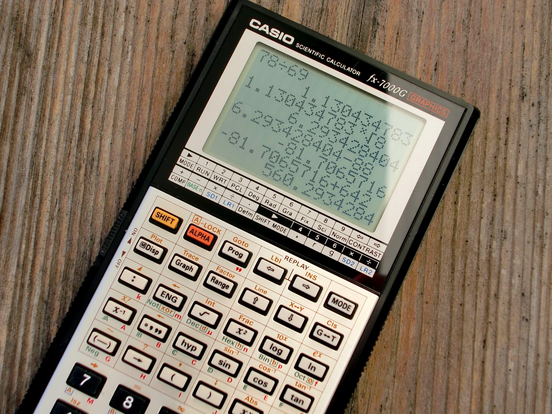 počítání na kalkulačc